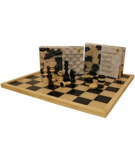 Chess and checkers set Staunton 3 budget - for beginners