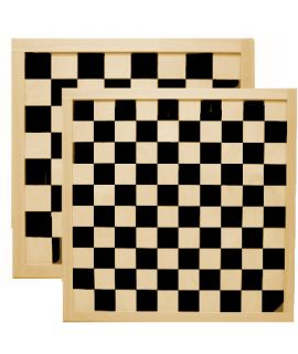 Chess and draughtsboard 40cm printed - squares 45mm and 36mm