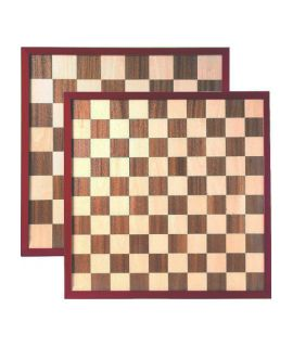 Chess and draughtsboard 42 cm with raised border - squares 48 mm and 39 mm