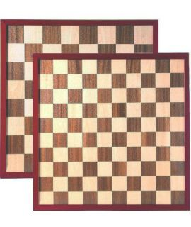 Chess and draughtsboard 47cm with raised border - squares 55mm and 45mm