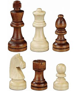 Staunton tournament chess pieces weighted - king height 78 mm - size 3