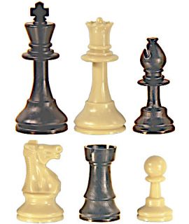 Chess pieces Staunton plastic - king height 92 mm solid
