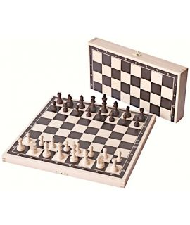 Printed foldable chess set squares 35 mm, king 56 mm