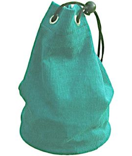 Green cloth pouch for chess pieces