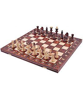 Grote deluxe parel schaakset 48 cm