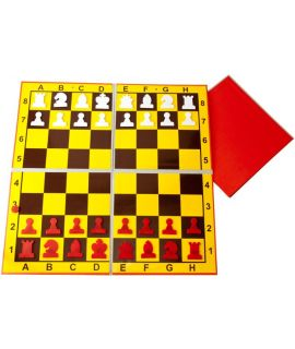 Chess demonstration board magnetic and double foldable 80 cm