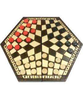Medium 3 player checkers set - 200 x 350 x 45 mm