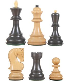 Zagreb 1959 schaakstukken verzwaard - koningshoogte 76 mm (#3)