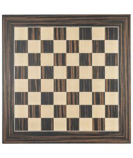 Black ebony luxury chess board 40 cm - fieldsize 40 mm - size 3