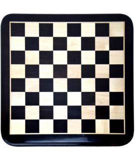 Luxe ebbenhouten schaakbord 49 cm - veldmaat 50 mm - maat 5
