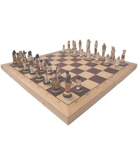 Egypt chess set 650 x 325 x 70 mm - king height 230 mm