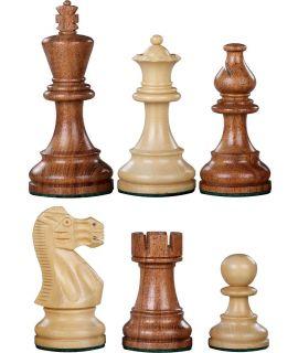 Reserve schaakstuk voor Elegance verzwaard - gepolijst chikri en palissander - koningshoogte 95 mm (#6)