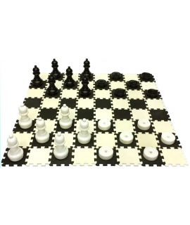 Giant outdoor checkers set small - EVA board