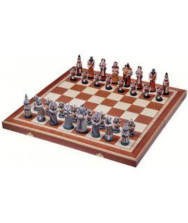 Fantasy chess set 580 x 240 x 70 mm - king height 115 mm