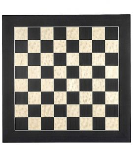 Black and erable luxury chess board 45 cm - fieldsize 45 mm - size 4