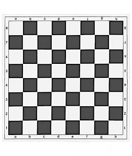 Vouwbaar schaakbord 51 cm plastic wit / zwarte velden van 55mm