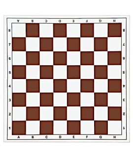 Chessboard 43cm plastic foldable white/brown - squares 45mm