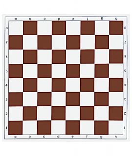 Chessboard 51 cm plastic foldable white/brown - squares 55 mm