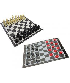 Buiten schaakspel en damspel klein - koningshoogte 200 mm