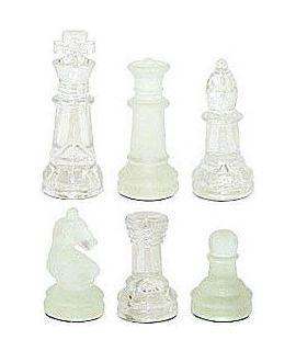 Reserve schaakstuk voor glazen schaakset 20 cm