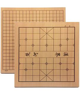 Go board 19 lines and xiangqi (chinese chess) reverse side - 45 x 48 cm