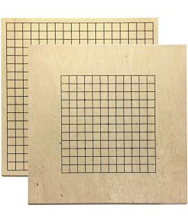 Go bord 19 lijnen en 13 lijnen onderzijde - 43 x 45 cm