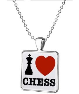 I Love Chess halsketting