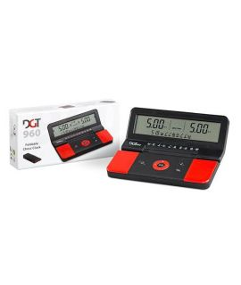 Travel chess clock and game timer DGT 960 - black and red