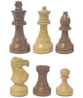 Chess pieces Staunton 3 luxery wood - king height 76 mm weighted
