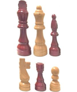 Chess pieces rubber wood Staunton - king height 17 cm - size 9