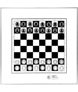 Magnetic chess aluminium demonstraton board 50 cm
