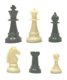 Chess pieces Staunton plastic weighted / magnetic - king height 68 mm - size 2
