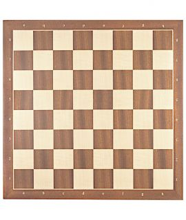 Mahogany and maple luxury chess board 45 cm with notation - fieldsize 50 mm - size 5