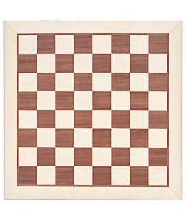 Chessboard 54 cm mahogany - maple - squares 58 mm - maple border - size 6