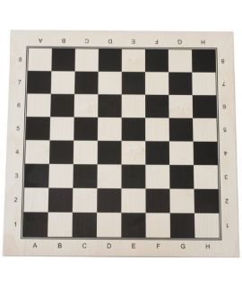 Chessboard 52 cm black printed maple - squares 58mm