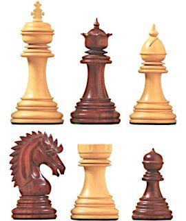 Marco Polo schaakstukken - chikri & padoek verzwaard - koningshoogte 114 mm (#9)