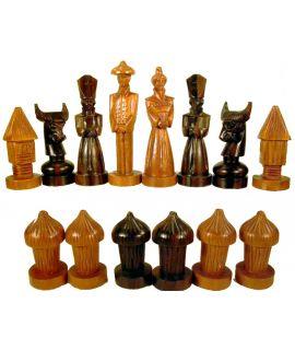 Maria Clara chess set - 1960s - Philippines