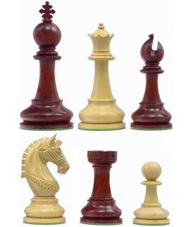 Medina Staunton schaakstukken - chikri & padoek verzwaard - koningshoogte 114 mm (#9)
