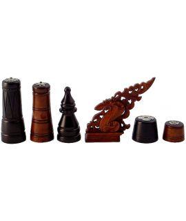 Moro chess set - pre WW II - Philippines