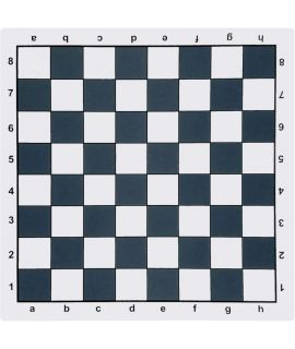 Rubber mouse pad chess board 51 cm - chess squares 57 mm black and white
