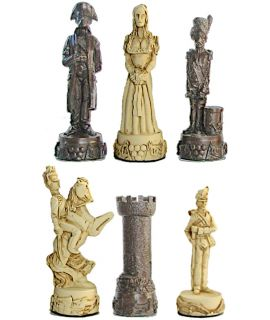 Napoleon-Waterloo plain theme chess pieces