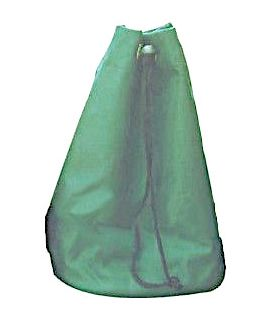 Green nylon pouch for chess pieces