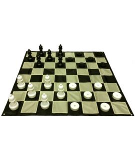 Giant outdoor checkers set small - nylon board 64 fields - 1.4 m