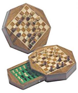 Octagon magnetic travel chess set 14.5 x 14.5 cm