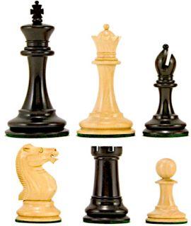 Original Staunton model 1900 - ebbenhouten schaakstukken - koningshoogte 89 mm (# 5)