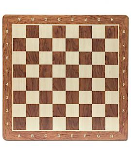 Chessboard 48 cm padauk - maple with notation - squares 50 mm - size 5