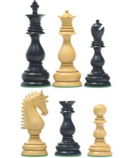 Ranke pedestal Staunton schaakstukken - verzwaard - koningshoogte 95 mm (#6)