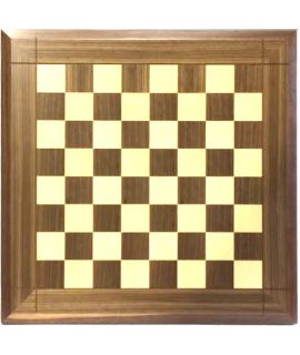 Bevelled edge chess board walnut and maple 53 cm - squares 50 mm - size 5
