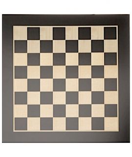 Chessboard sycamore maple, natural and black 40 cm - squares 40 mm - size 3