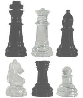 Reserve schaakstuk voor glazen schaakset 25 cm